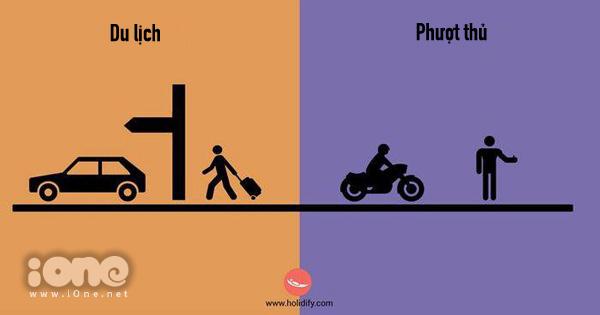 Đi du lịch bằng ô tô, máy bay, tàu lửa; đi phượt thì hãy đi quá giang.
