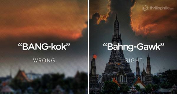 """Bangkok không phát âm """"k"""" như chúng ta tưởng đâu nhé."""