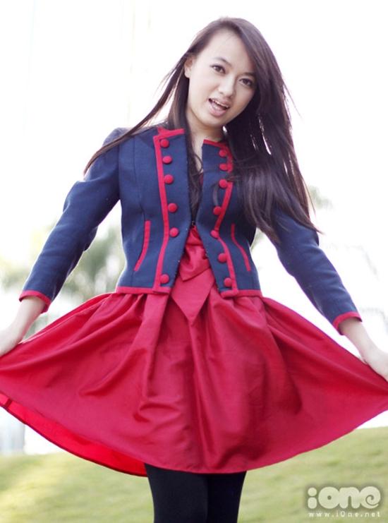 Hình ảnh ra dáng thiếu nữ của Xuân Nghi ở tuổi vị thành niên.
