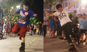 Đọ tài trượt patin - game đang hot trên phố đi bộ Nguyễn Huệ
