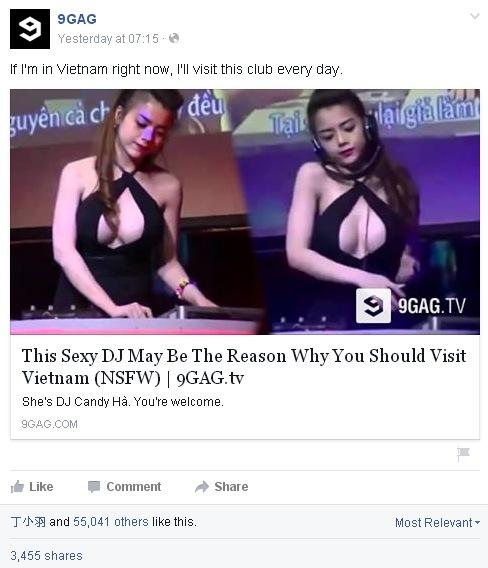 Nữ DJ xinh đẹp Việt được trang nổi tiếng 9GAG khen nức nở