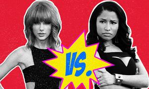 Katy Perry, Nicki Minaj về một phe ghét Taylor Swift