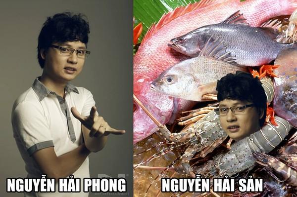 Nhạc sĩ Nguyễn Hải Phong có lẽ sẽ cười rất lâu với bức ảnh này.