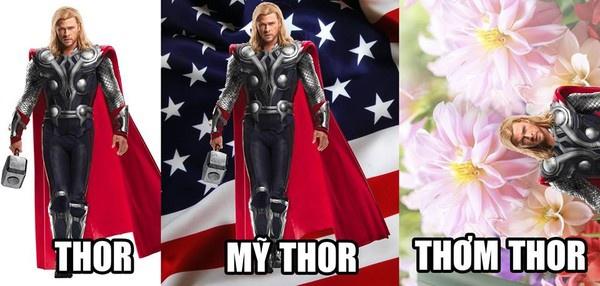 Ngay cả sao Hollywood như Thần Sấm Thor cũng thoát khỏi bàn tay của các ''thánh chế''.