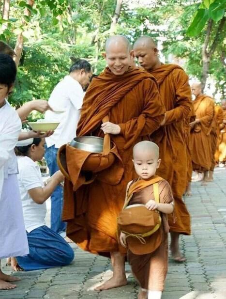 Nongkorn rất thích ngủ, nhưng khi theo các sư phụ đi hóa duyên cũng tỏ ra rất nghiêm túc.