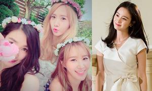 Sao Hàn 11/8: SNSD đội vòng hoa lãng mạn, Kim Tae Hee tiểu thư xinh đẹp