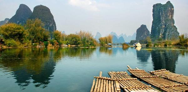 Làng Guilin ở Trung Quốc sẽ là nơi chụp ảnh cực lý tưởng cho các teen bởi khung cảnh như cắt ra từ tranh vẽ.