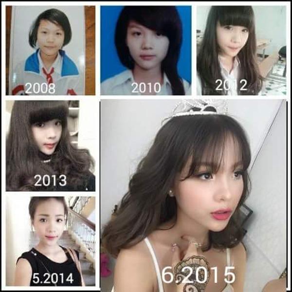 Quá trình lột xác trong 7 năm của cô bạn Nguyễn Quỳnh Anh.