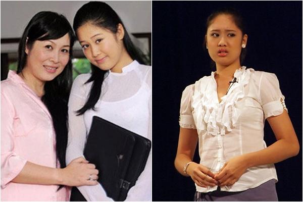 Từ thời còn niên thiếu, Hoàng Châu đã được nhận xét có nhiều nét đẹp duyên giống mẹ. Tài năng diễn xuất của cô nàng cũng bộc lộ khá sớm khi được đứng trên sân khấu kịch