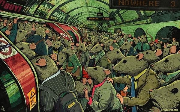 Mỗi ngày đi học, đi làm là những ngày nhồi nhét trên xe buýt, tàu điện ngầm.