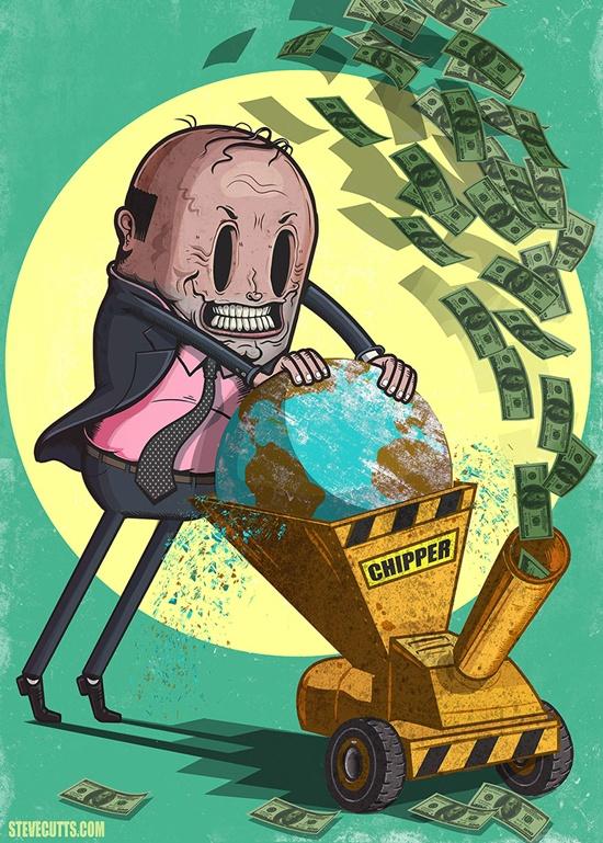 Khi Trái đất bị nghiến nát để làm tiền.