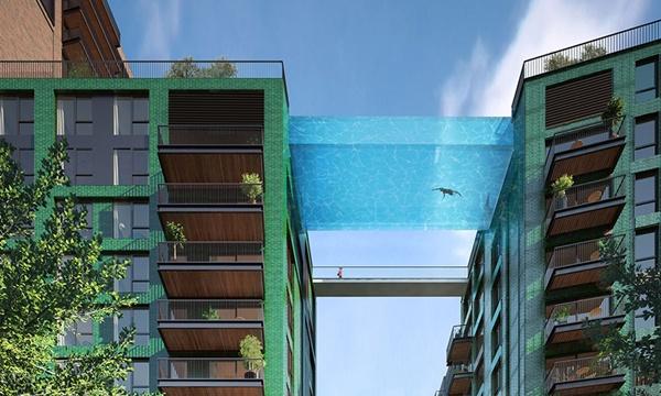 Hồ bơi cực kool này được đặt ở vị trí 35 mét so với mặt đất.