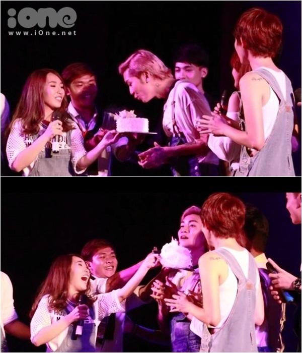Một tiết mục bất ngờ ở gần cuối chương trình là món quà bí mật của các thành viên dành cho thủ lĩnh của nhóm là BB Trần. Ngày 20/8 là sinh nhật của anh ấy