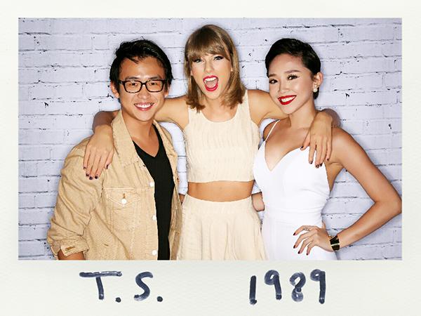 Thật sự Tiên cảm thấy rất hồi hộp trước khi gặp Taylor  nhưng khi vừa bước vô, bạn ấy lại cực kỳ thân thiện đến ôm Tiên và khen: Trông bạn quyến rũ mê hồn, giống như Marilyn Monroe vậy!. Tuy chỉ tiếp xúc trong thời gian ngắn ngủi nhưng Tiên cảm nhận được sự giản dị và thân thiện của Taylor. Ngoại hình và tài năng của cô ấy thì dĩ nhiên quá tuyệt vời rồi!- Tóc Tiên hào hứng kể về cảm giác của mình khi chạm mặt Taylor Swift.