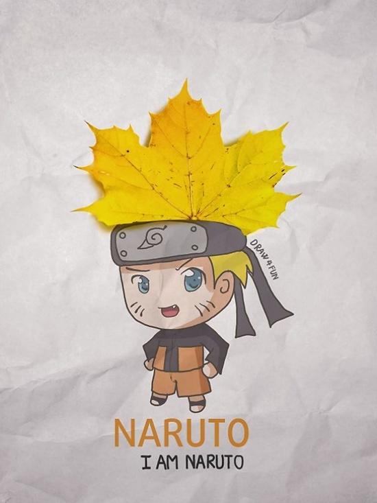 Naruto với quả đầu lá phong trông rất kool.