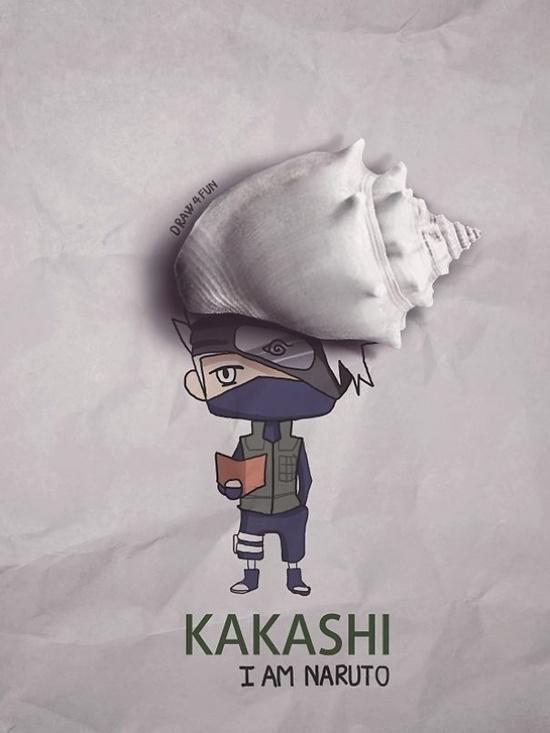 Kakashi với quả tóc bạc thần thánh từ vỏ ốc.