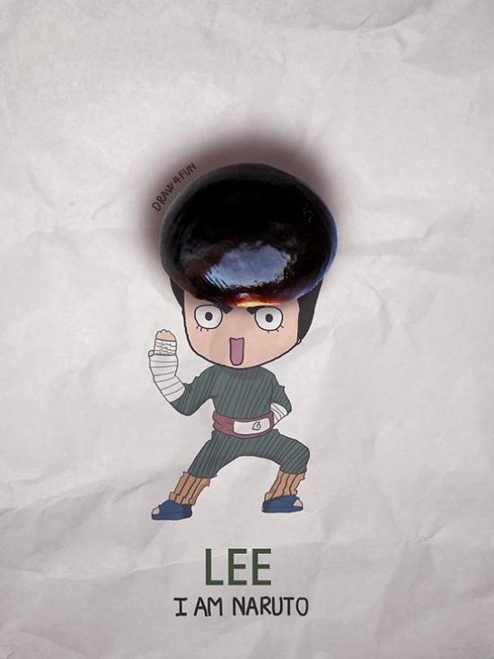Lee trông siêu ngố với quả đầu hạt nhãn.