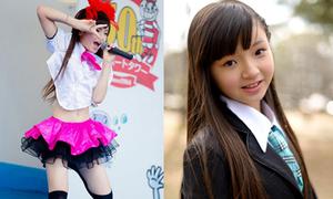 Nữ sinh 11 tuổi Nhật Bản gây tranh cãi vì đồ diễn ngắn cũn
