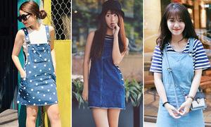 Mốt váy yếm siêu xinh cho ngày giao mùa của hot girl