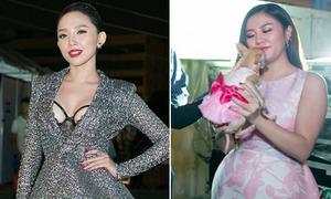 Tóc Tiên sexy ác liệt, Văn Mai Hương đem 'con' đi diễn cùng