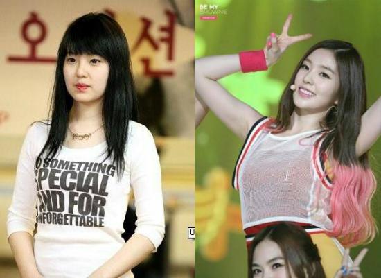 Irene được nhiều người ca ngợi là nữ thần mới của nhà SM. Tuy nhiên, trong những bức ảnh thời chưa ra mắt, thành viên Red Velvet có khuôn mặt vuông, các đường nét chưa hoàn hảo như hiện nay.