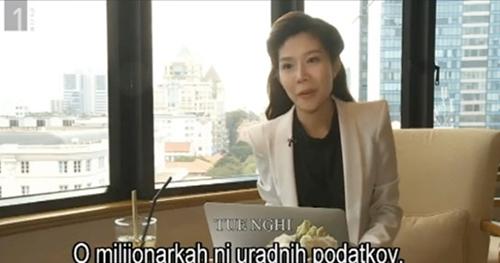 Nữ doanh nhân Tuệ Nghi trên sóng truyền hình quốc gia Slovenia