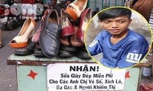 Điều thú vị về cậu bạn sửa giày miễn phí cho người nghèo