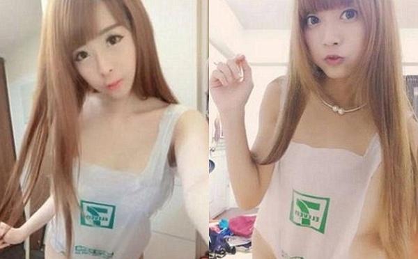 Những bịch ni lông được giới trẻ Đài Loan trưng dụng làm item thời trang mới.