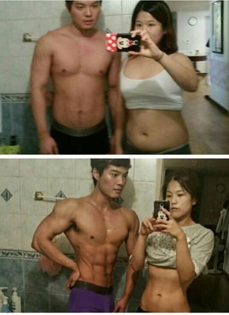 Câu chuyện về cặp đôi người Hàn Quốc cùng nhau lột xác nhờ giảm cân, tập gym đang được giới trẻ Hàn Quốc, Đài Loan ngưỡng mộ