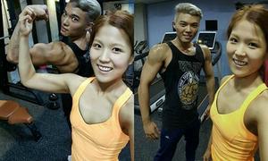 Cặp đôi lột xác 180 độ nhờ cùng nhau tập gym