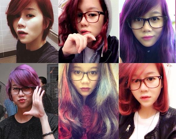 Hot Vlogger sở hữu hơn 2 triệu fan là người có sở thích thay đổi màu tóc với tần suất chóng mặt.