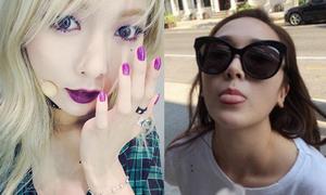 Sao Hàn 12/9: Hyun Ah make-up tông tím huyền ảo, Jessica le lưỡi kute