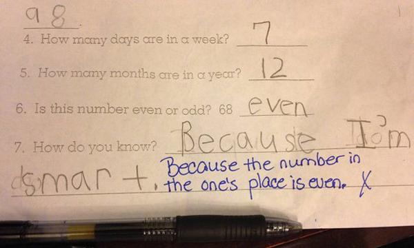 """6. """"68 là số chẵn hay số lẻ?"""" - """"Số chẵn"""" - 7. """"Làm sao em biết?"""" - """"Vì em thông   minh""""."""