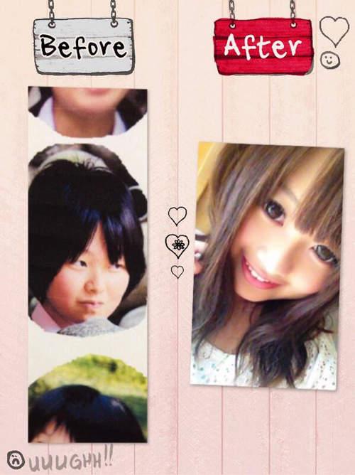 Mii Zouazarashi vốn là cô nàng có gương mặt bầu, nước da không mấy láng mịn, đôi mặt một mí