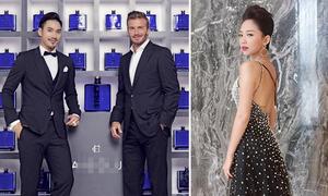 Lý Quí Khánh cực bảnh, Tóc Tiên lộng lẫy hội ngộ Beckham