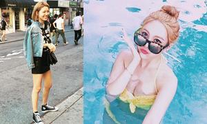 Sao Hàn 18/9: Soo Young khoe xì tai dạo phố, Qri bất ngờ gợi cảm với bikini