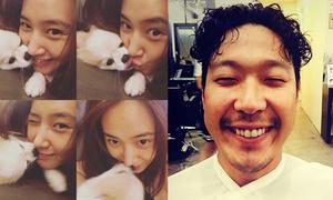 Sao Hàn 25/9: Yuri hôn cún nồng nhiệt, HaHa cười 'không thấy mặt trời'