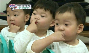 Ảnh động cảnh ăn uống của cặp sinh 3 hot nhất xứ Hàn