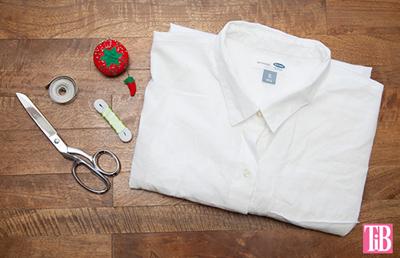 Cách cắt may áo sơ mi cũ thành áo trễ vai hợp mốt