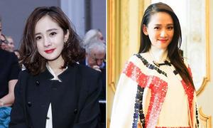Dương Mịch, Trần Kiều Ân tươi trẻ dự tuần lễ thời trang