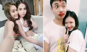 Sao Việt 8/10: Ngọc Trinh mặc bikini đọc kịch bản, JustaTee tô son chiều bạn gái