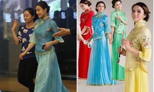 Váy của phù dâu Angelababy giống hàng giá rẻ trên mạng