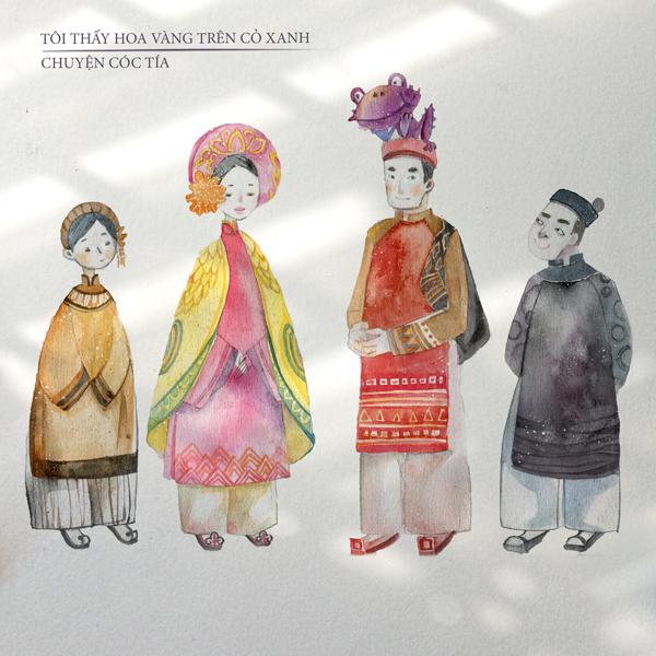 Tạo hình các nhân vật ở cuối phim Cóc tía.