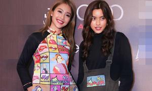 Khả Ngân và bạn thân hot girl Thái 'lùn tịt' vì đồ khó hiểu