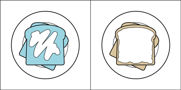 Bạn giữ thói quen ăn uống nào trong hình trên đây: phết bơ