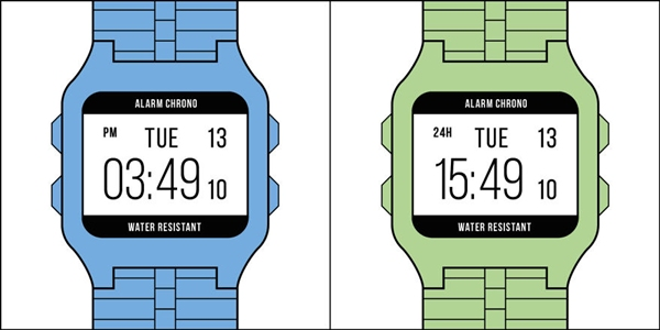 """Bạn thuộc kiểu người nào trong hai """"trường phái"""" xem đồng hồ trên đây?"""