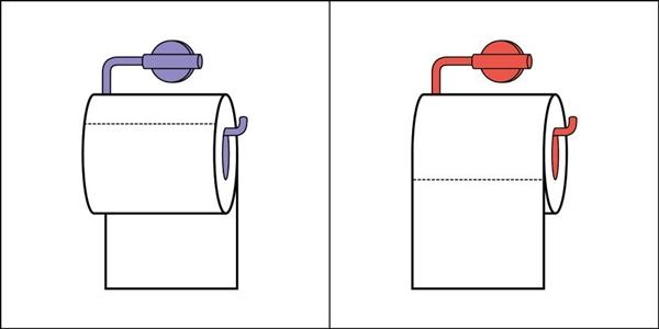 Nhiều người luôn đặt mặt giấy toilet phía bên trong, nhiều người khác lại thích để bên ngoài.