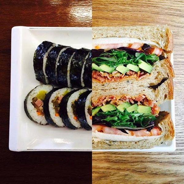 Đôi khi, bức ảnh lại là sự pha trộn thú vị giữa hai nét văn hóa ẩm thực của Seoul và New York.