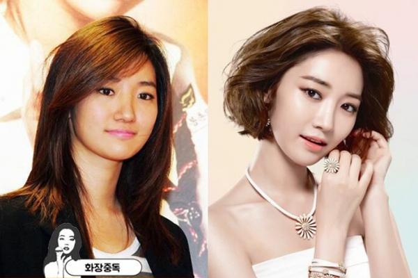 Go Joon Hee đổi kiểu lông mày, cách trang điểm mắt cũng tinh tế hơn nhiều.   Đặc biệt, mái tóc bob xoăn bồng bềnh giúp cô nàng trông sành điệu và nổi   bật hơn hẳn.