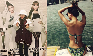 Sao Hàn 8/12: Hyo Rin khoe body nóng bỏng, Dara pose hình cùng 2NE1